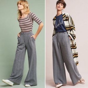 Anthropologie Cartonnier wide leg trousers pants